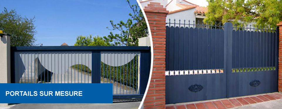 Menuiserie aluminium et sur mesure ad menuiserie calais for Portail exterieur sur mesure